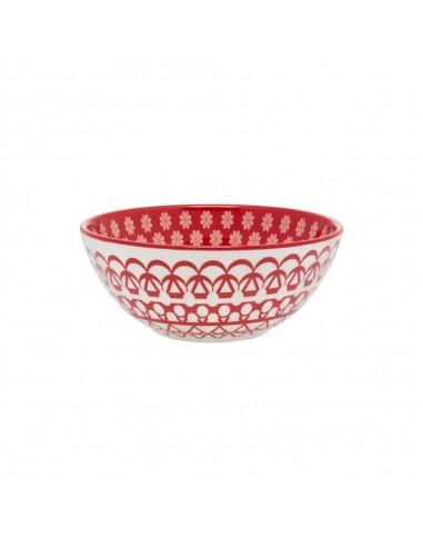 Bowl Cerealero Decorado Rojo 600 ml