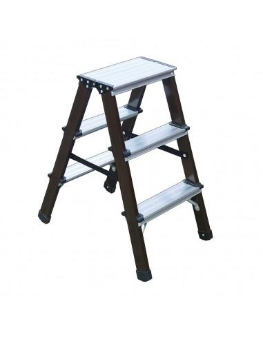 Escalera Aluminio Doble 3 Escalones