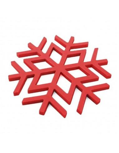 Posa Fuente Silicona Copo Nieve