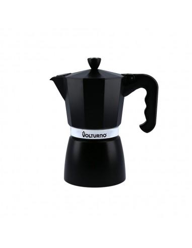 Cafetera Aluminio Negra Volturno