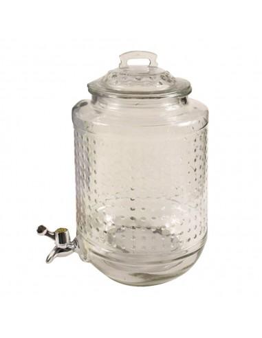 Dispenser Vidrio Tapa a Presión 8 lts