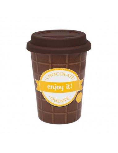 Jarro Mug Chocolate Tapa Silicona 300 ml