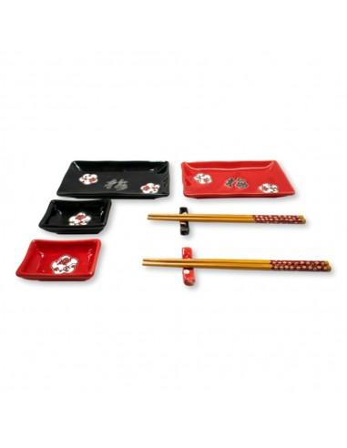 Set Sushi x8 Piezas Cerámica