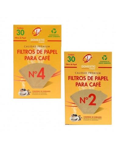 Filtro Café Papel x 30 uni Nº 2